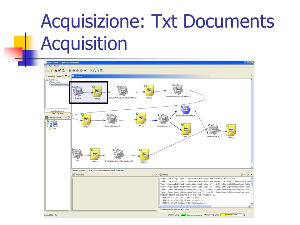 Acquisizione: Txt Documents Acquisition