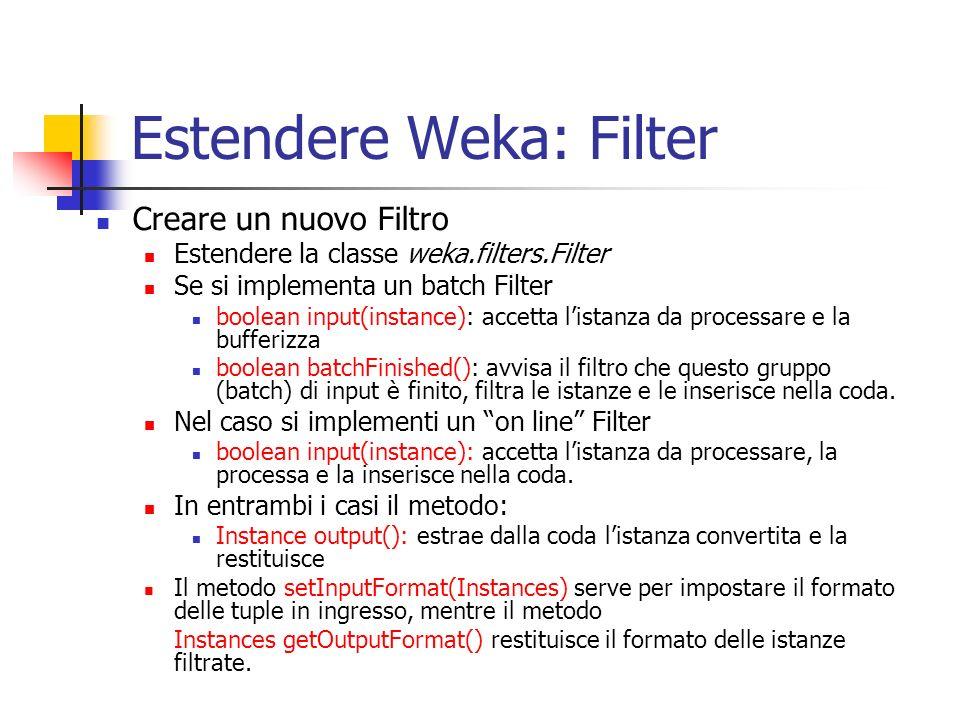 Estendere Weka: Filter