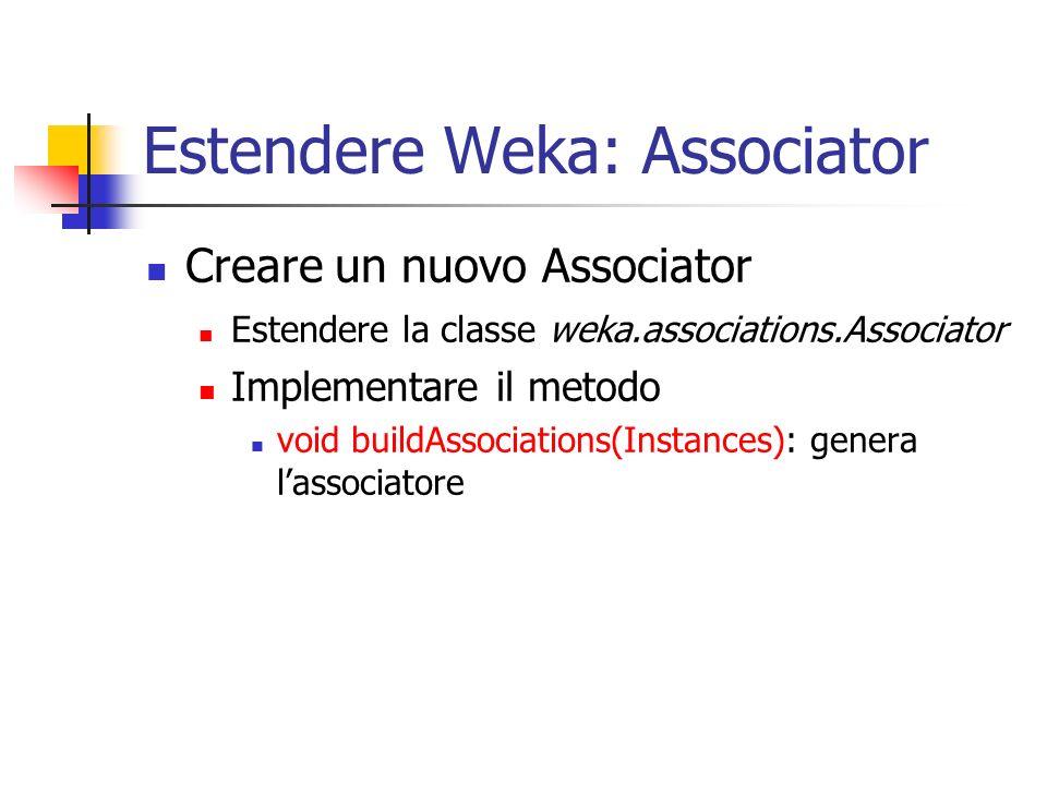 Estendere Weka: Associator
