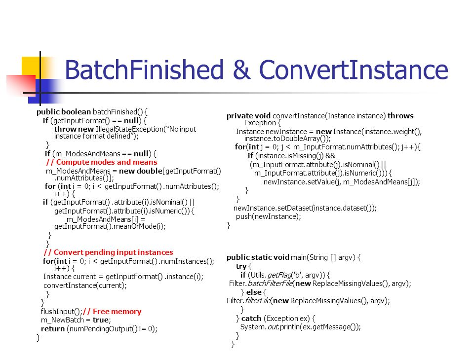 BatchFinished & ConvertInstance