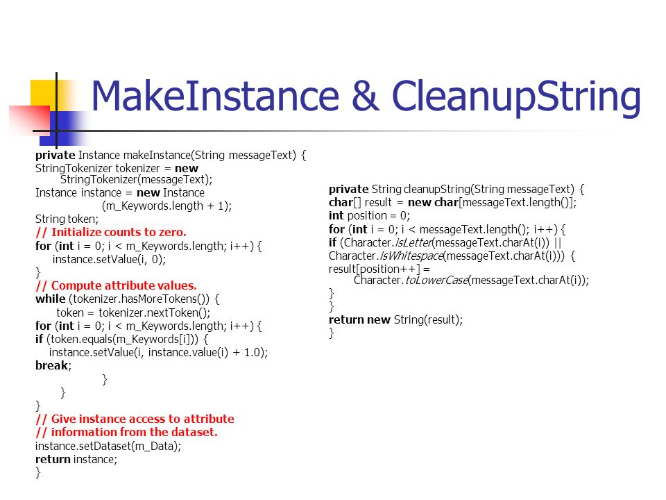MakeInstance & CleanupString