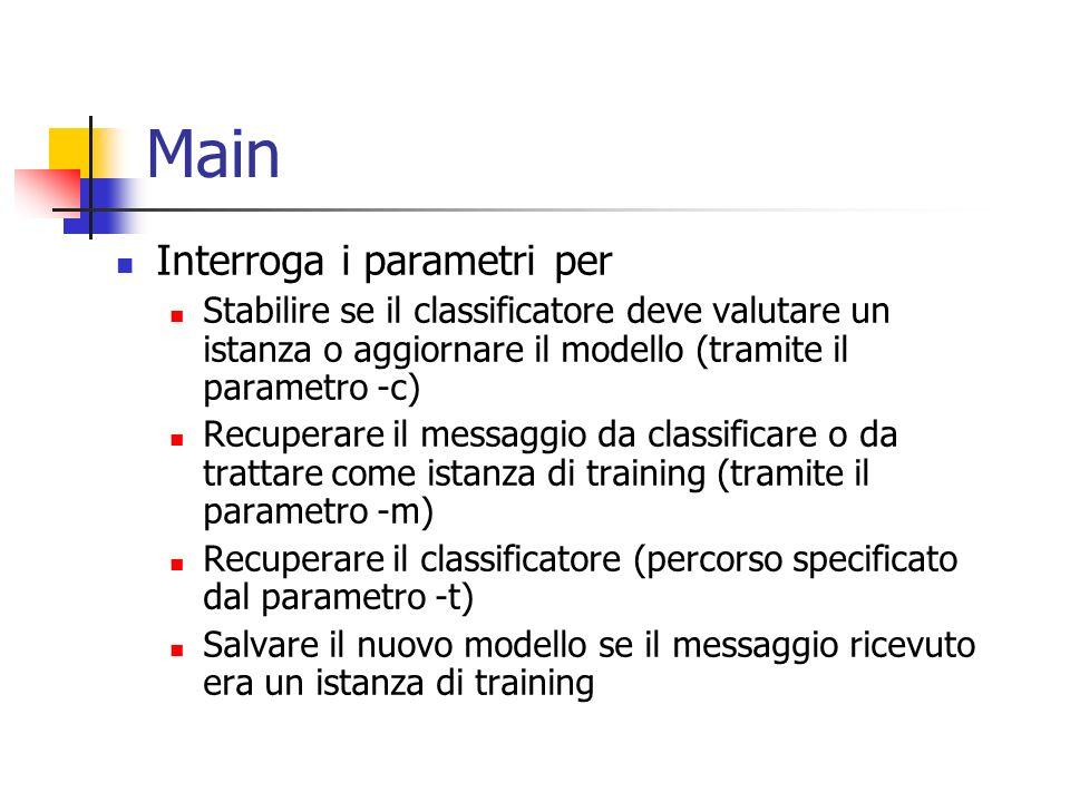Main Interroga i parametri per