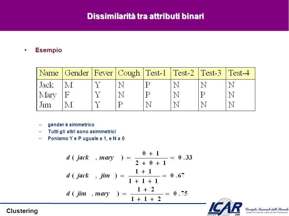 Dissimilarità tra attributi binari