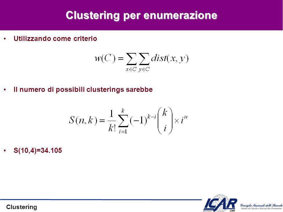 Clustering per enumerazione