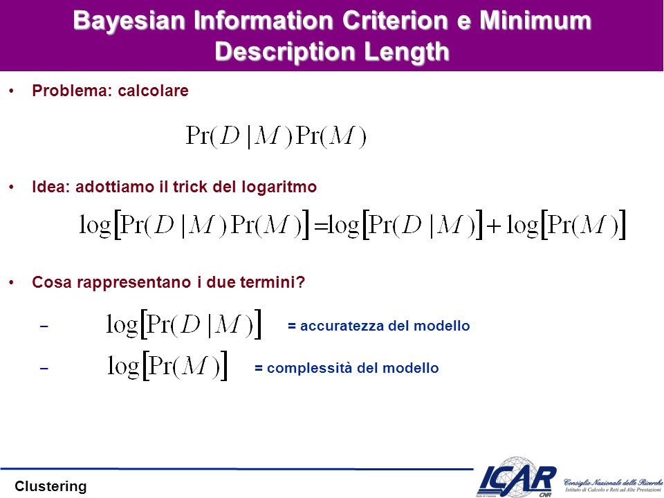 Bayesian Information Criterion e Minimum Description Length