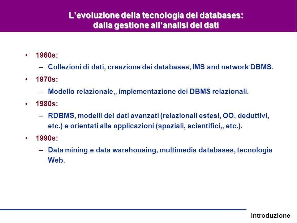 L'evoluzione della tecnologia dei databases: dalla gestione all'analisi dei dati