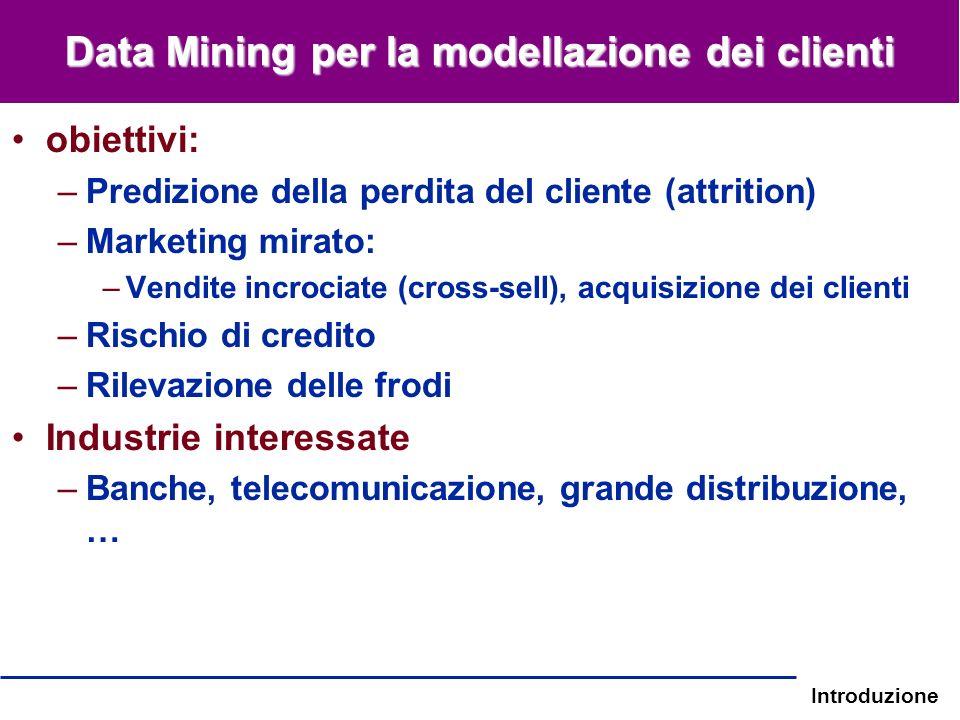 Data Mining per la modellazione dei clienti