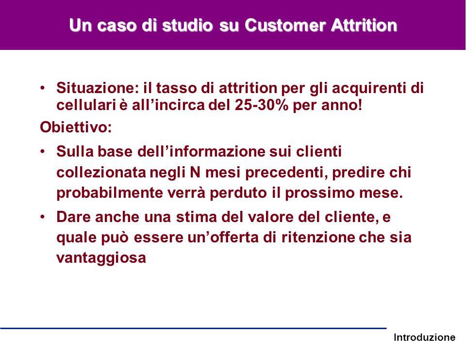 Un caso di studio su Customer Attrition