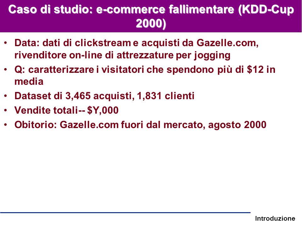 Caso di studio: e-commerce fallimentare (KDD-Cup 2000)