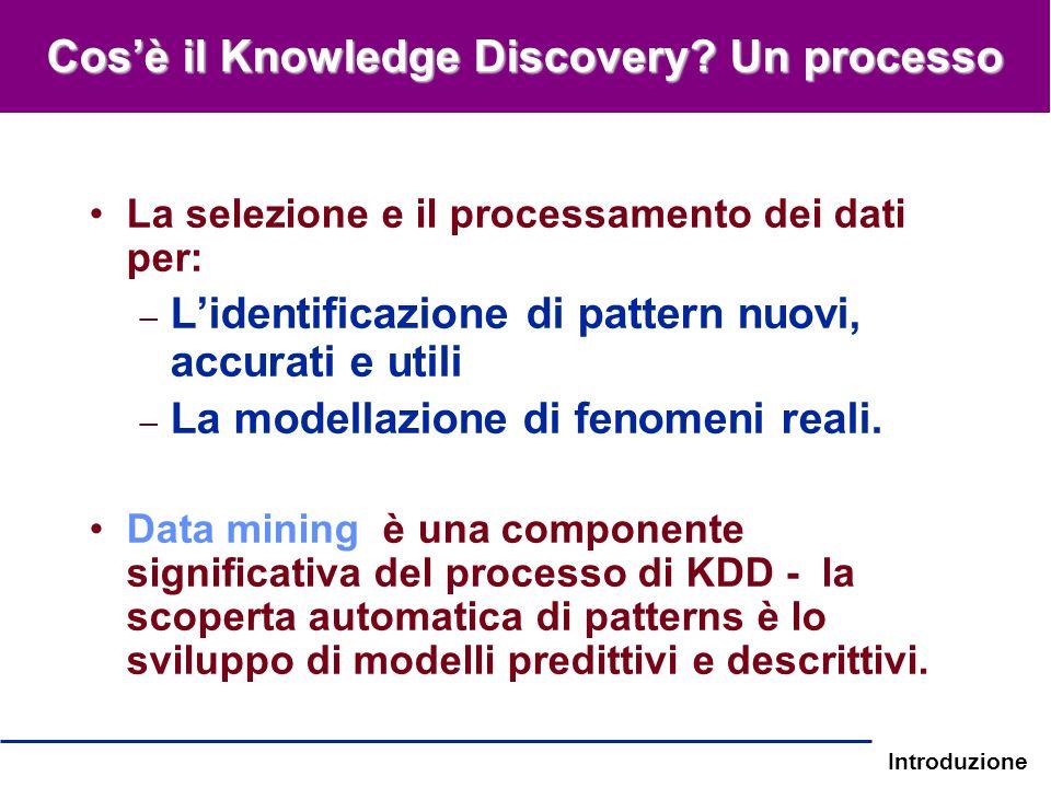Cos'è il Knowledge Discovery Un processo