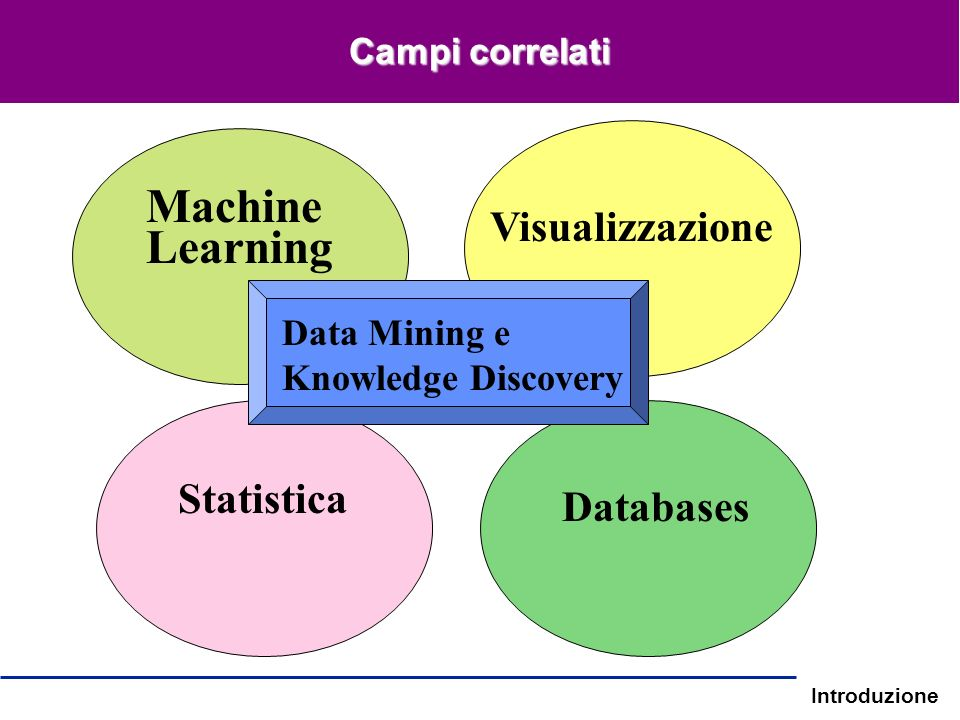 Machine Learning Visualizzazione Statistica Databases Data Mining e