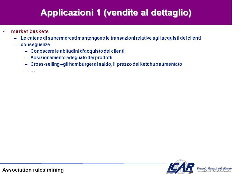 Applicazioni 1 (vendite al dettaglio)