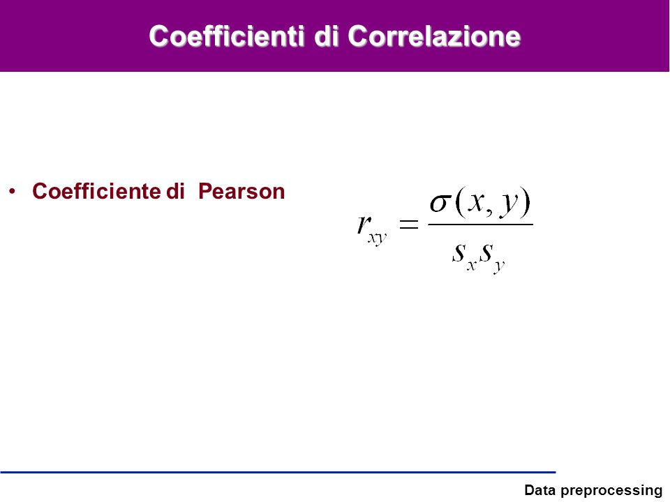 Coefficienti di Correlazione