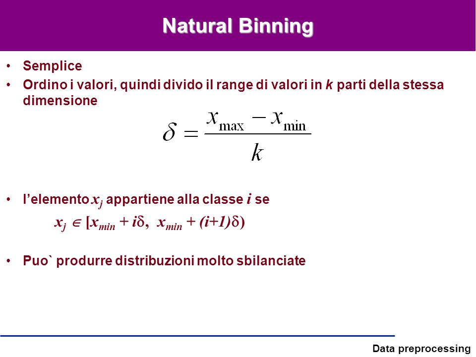 Natural Binning Semplice