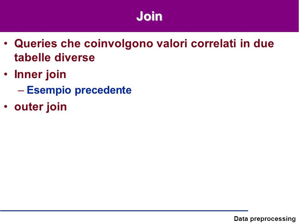 Join Queries che coinvolgono valori correlati in due tabelle diverse