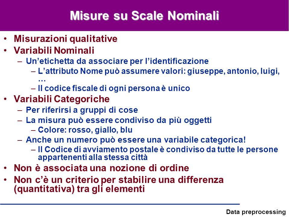 Misure su Scale Nominali