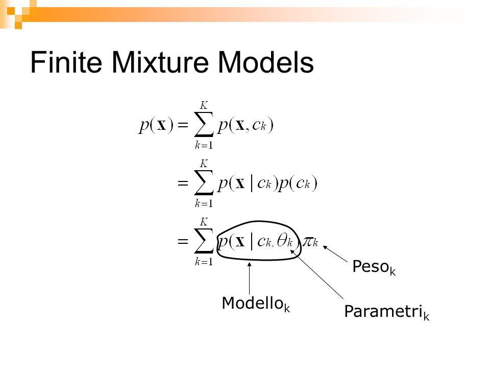 Finite Mixture Models Pesok Modellok Parametrik