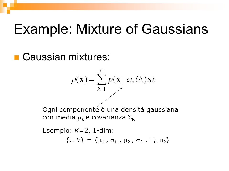 Example: Mixture of Gaussians