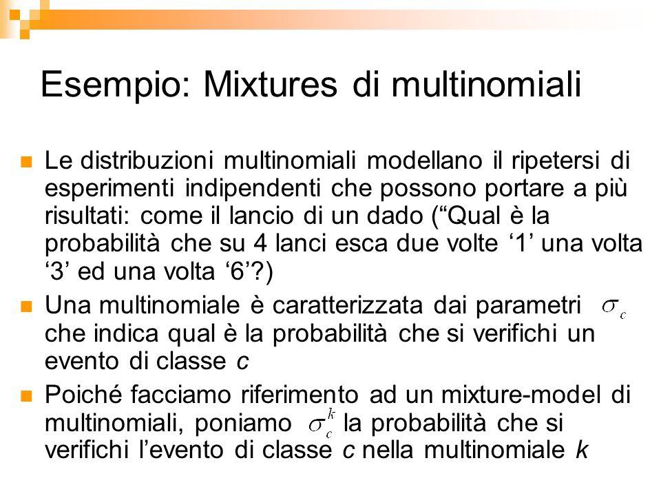 Esempio: Mixtures di multinomiali
