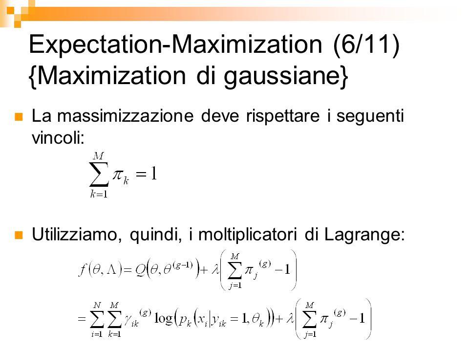Expectation-Maximization (6/11) {Maximization di gaussiane}