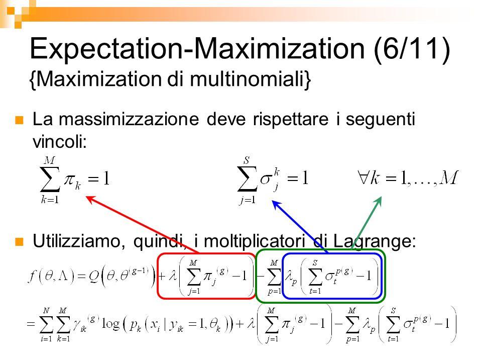Expectation-Maximization (6/11) {Maximization di multinomiali}