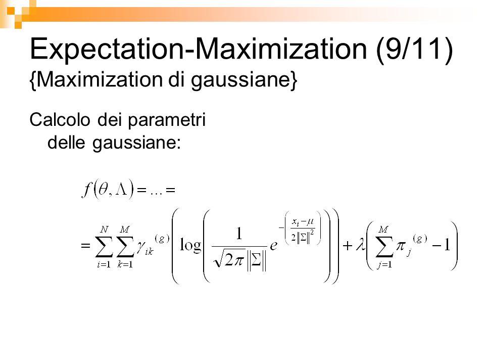 Expectation-Maximization (9/11) {Maximization di gaussiane}