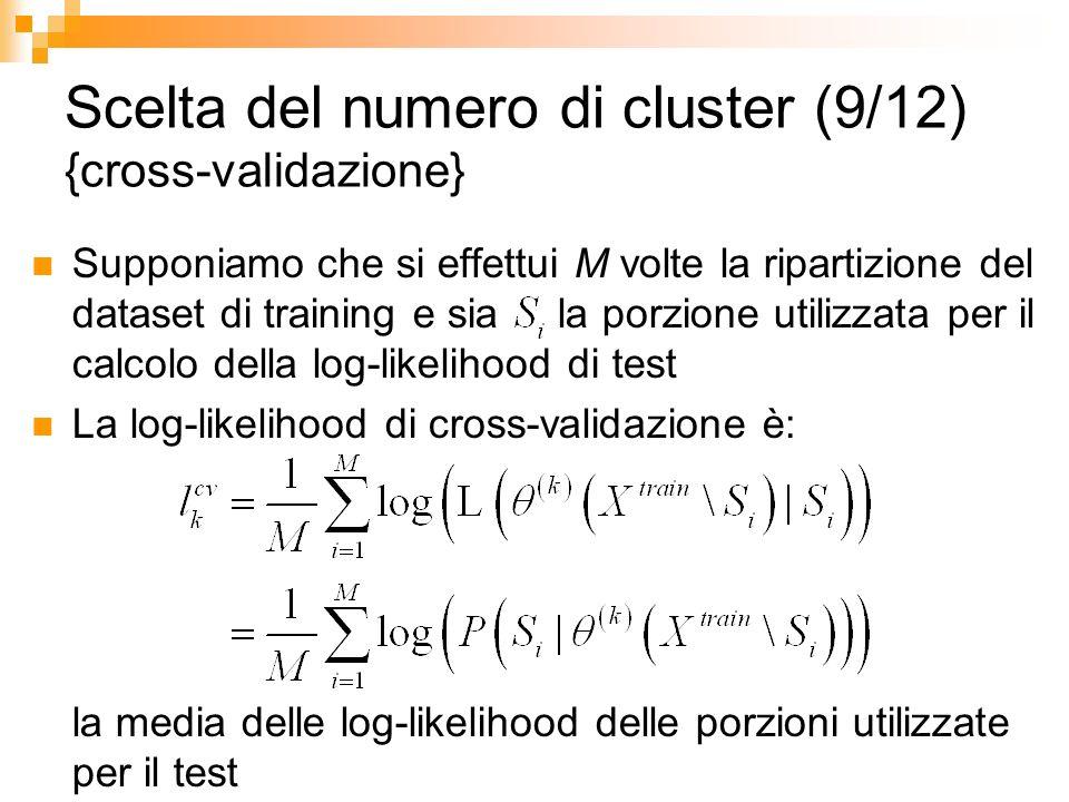 Scelta del numero di cluster (9/12) {cross-validazione}
