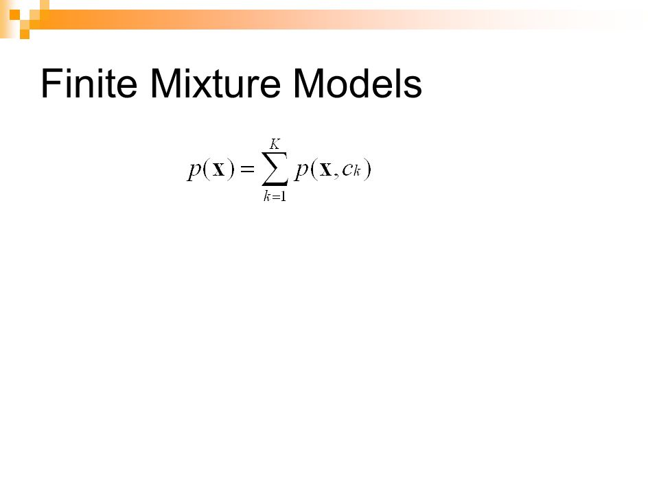 Finite Mixture Models