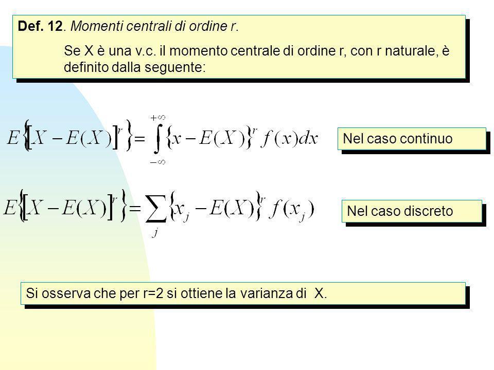 Def. 12. Momenti centrali di ordine r.