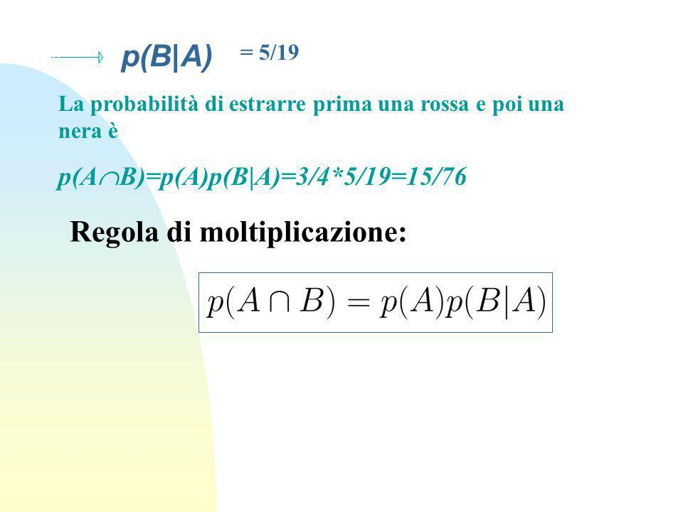 Regola di moltiplicazione: