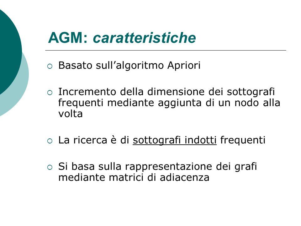 AGM: caratteristiche Basato sull'algoritmo Apriori
