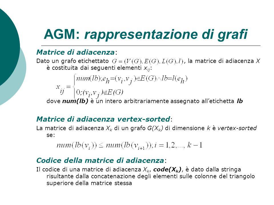 AGM: rappresentazione di grafi
