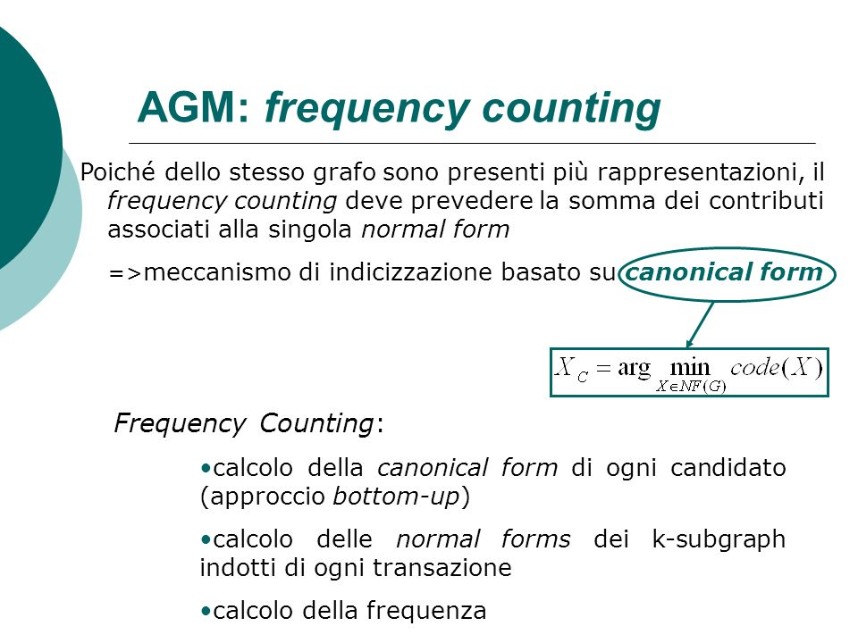AGM: frequency counting