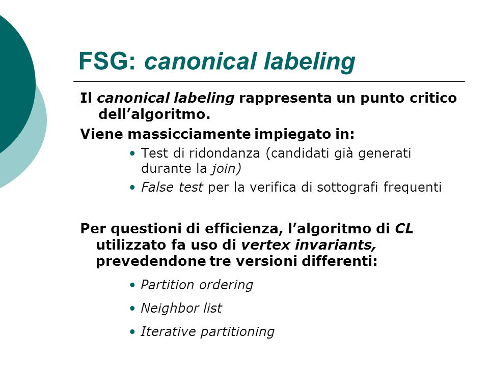FSG: canonical labeling