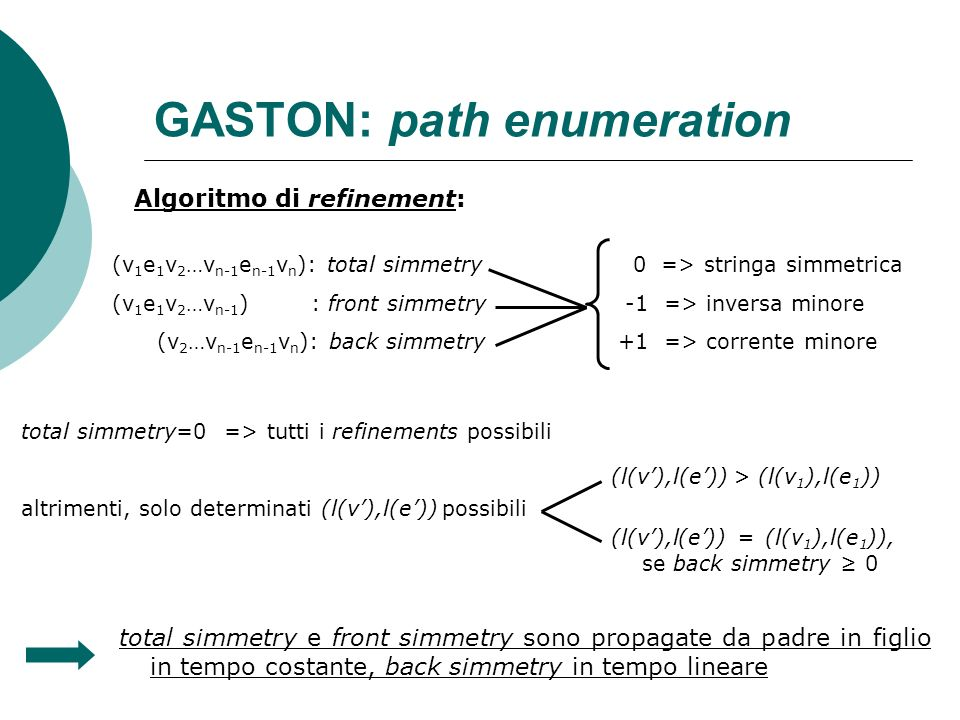 GASTON: path enumeration