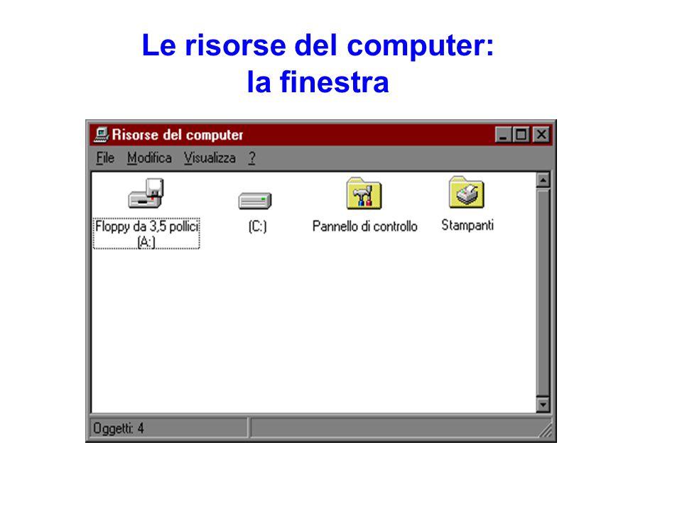 Le risorse del computer: la finestra