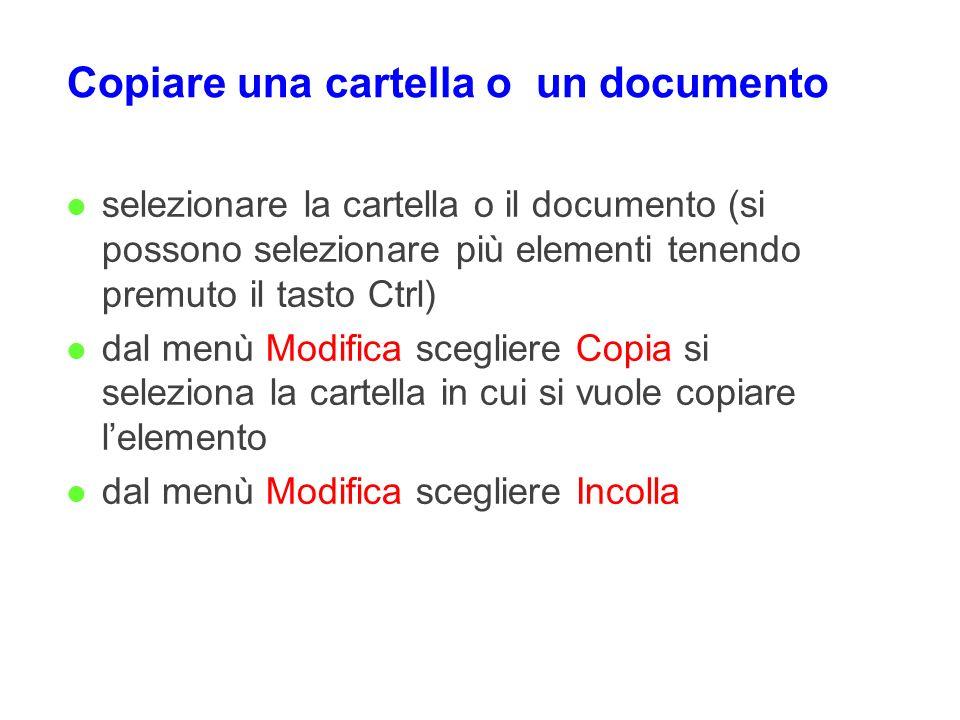 Copiare una cartella o un documento