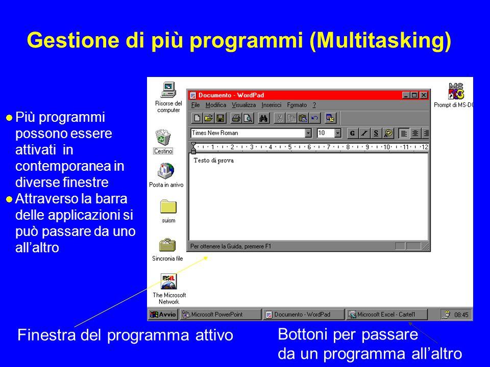 Gestione di più programmi (Multitasking)