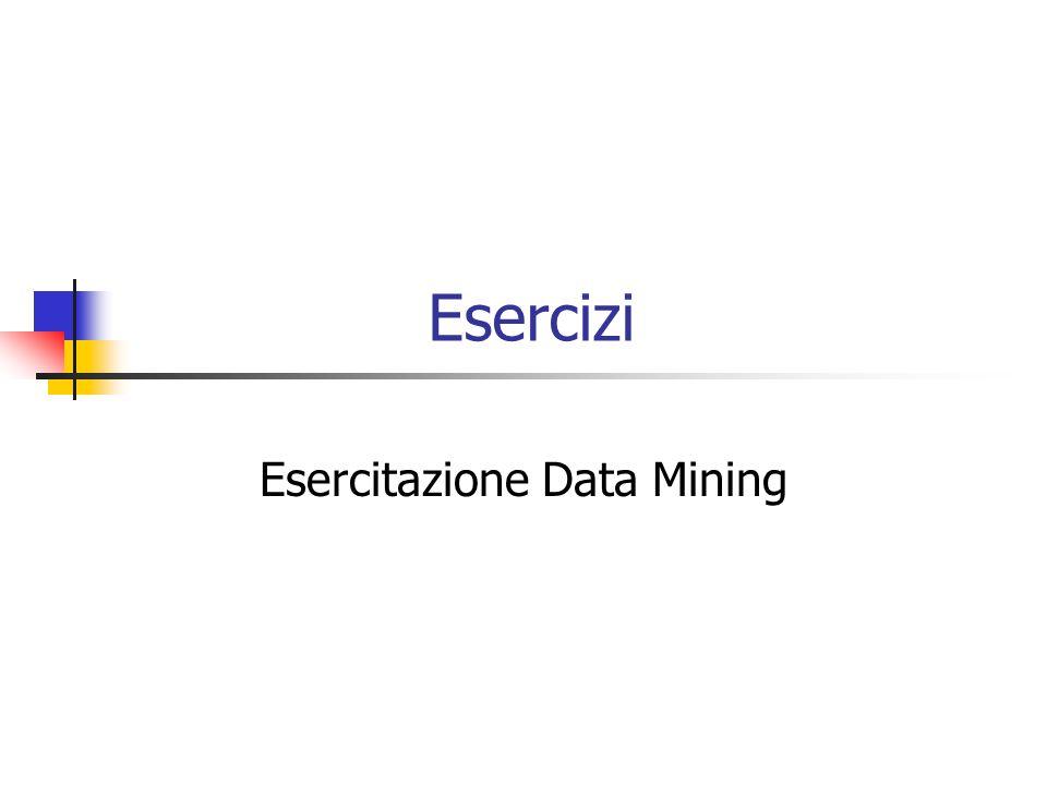 Esercitazione Data Mining