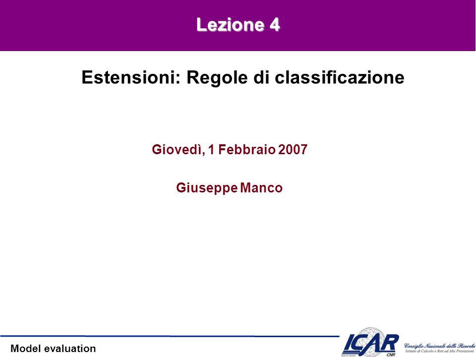 Estensioni: Regole di classificazione