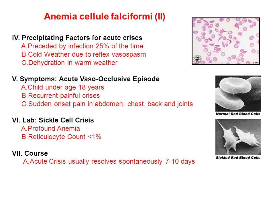 Anemia cellule falciformi (II)