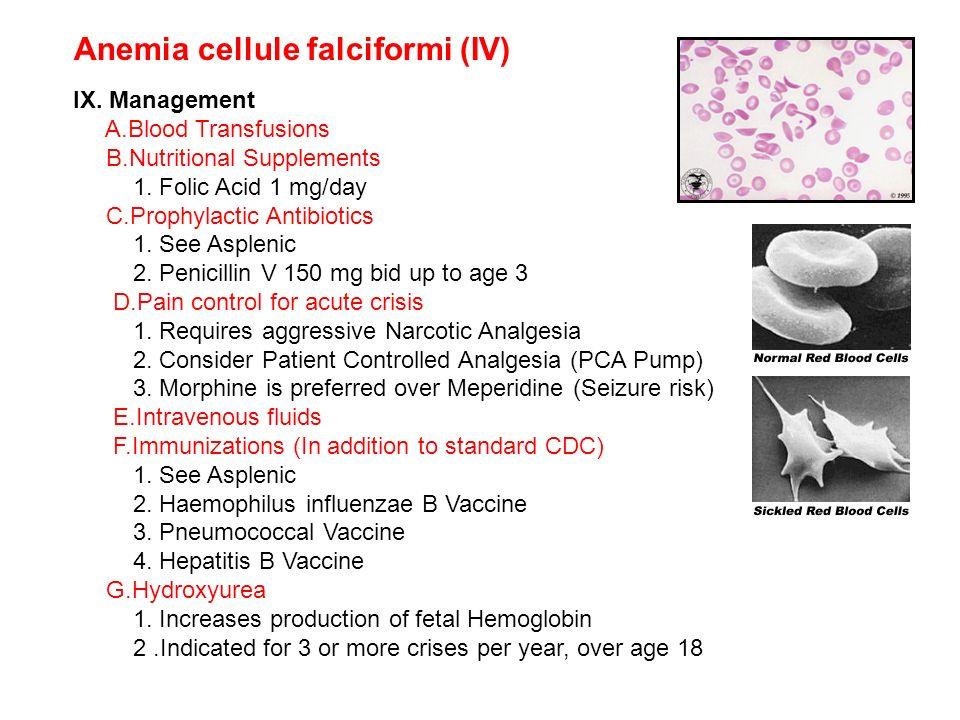 Anemia cellule falciformi (IV)