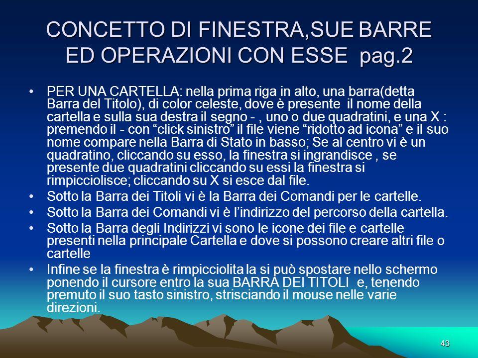 CONCETTO DI FINESTRA,SUE BARRE ED OPERAZIONI CON ESSE pag.2