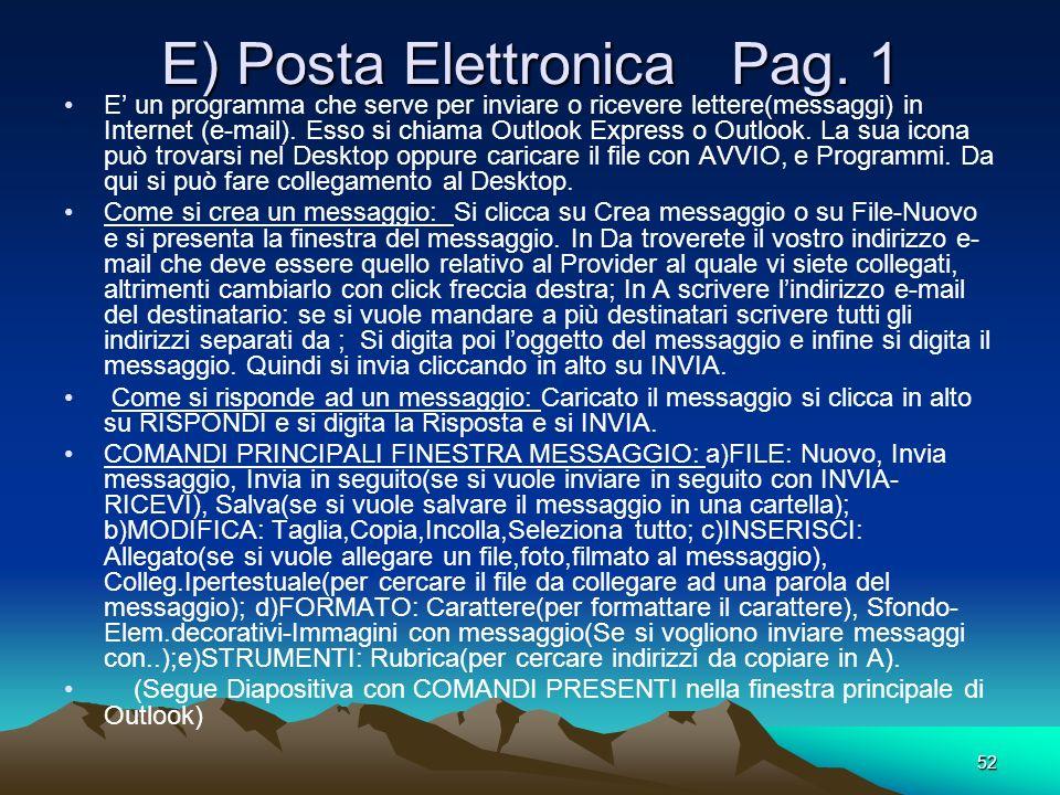 E) Posta Elettronica Pag. 1