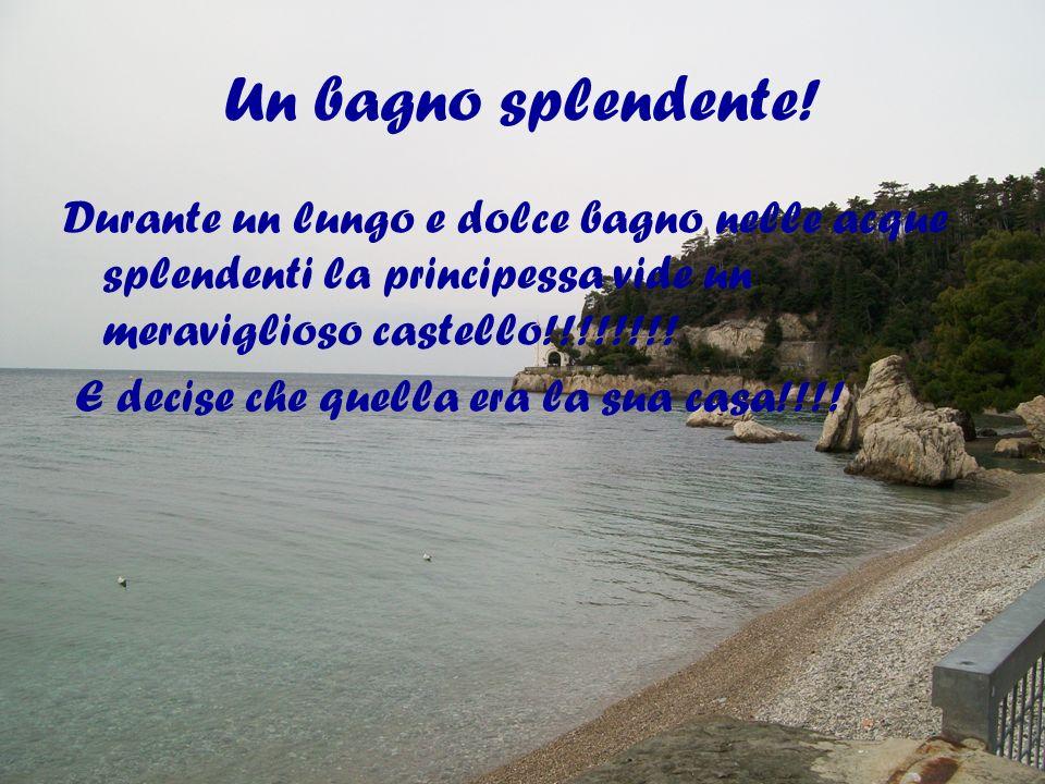 Un bagno splendente! Durante un lungo e dolce bagno nelle acque splendenti la principessa vide un meraviglioso castello!!!!!!!!