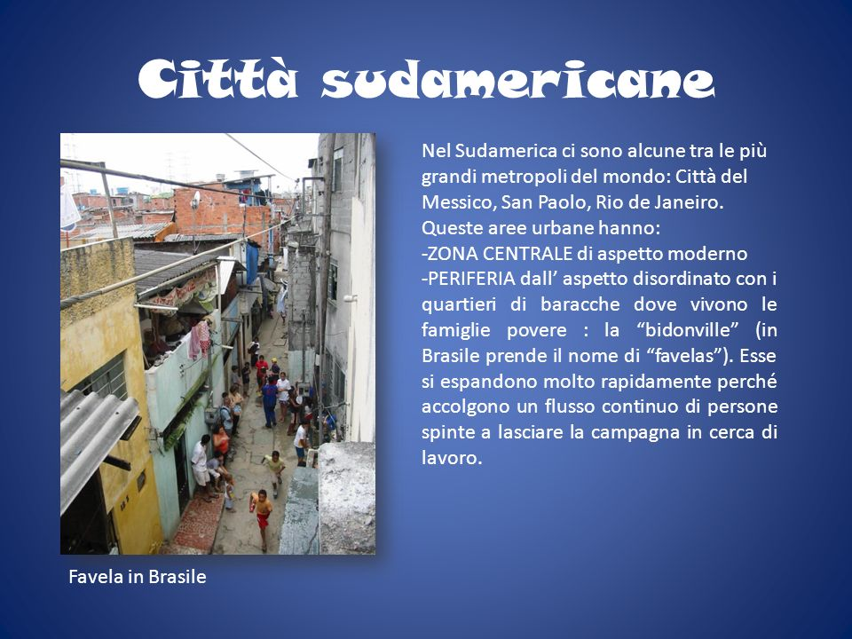 Città sudamericane