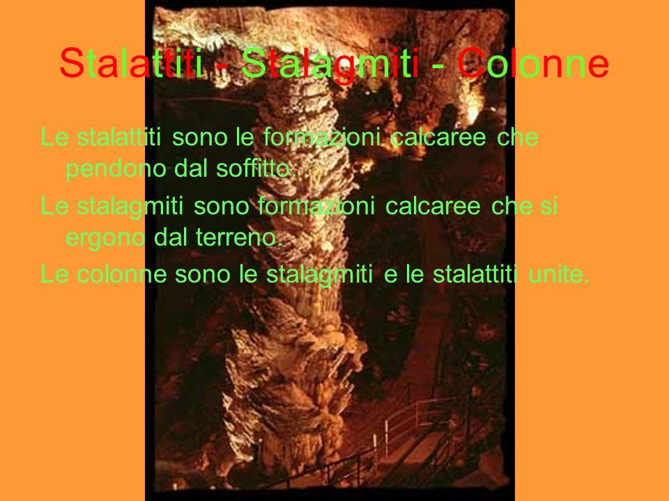 Stalattiti - Stalagmiti - Colonne