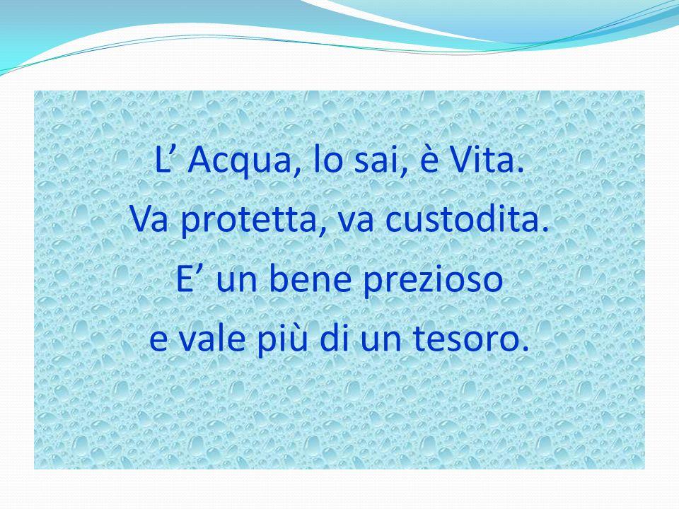 L' Acqua, lo sai, è Vita. Va protetta, va custodita