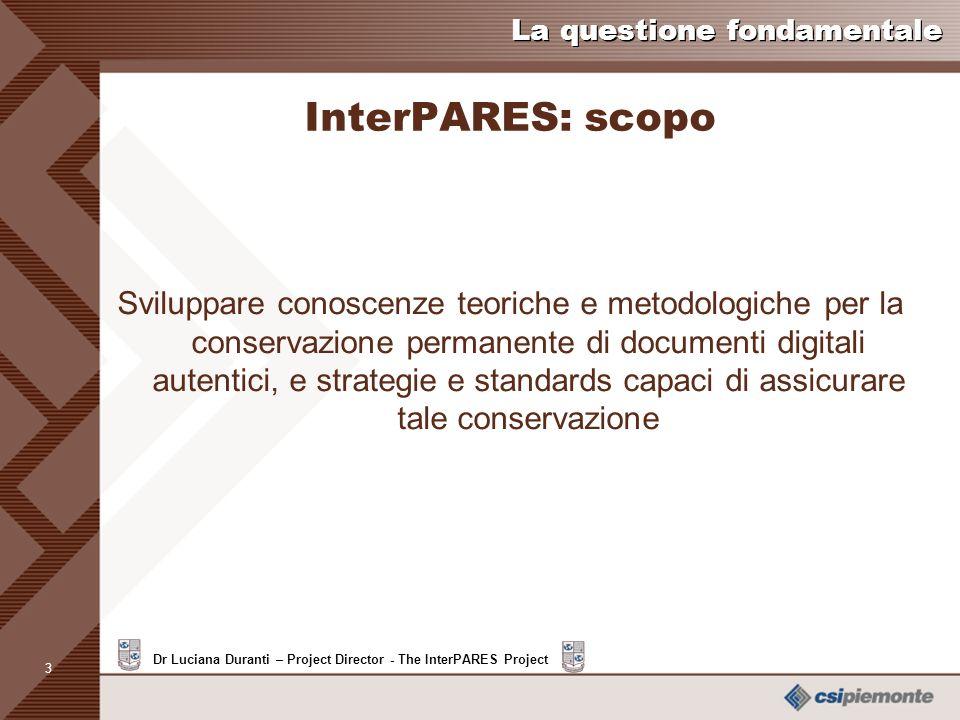InterPARES: scopo