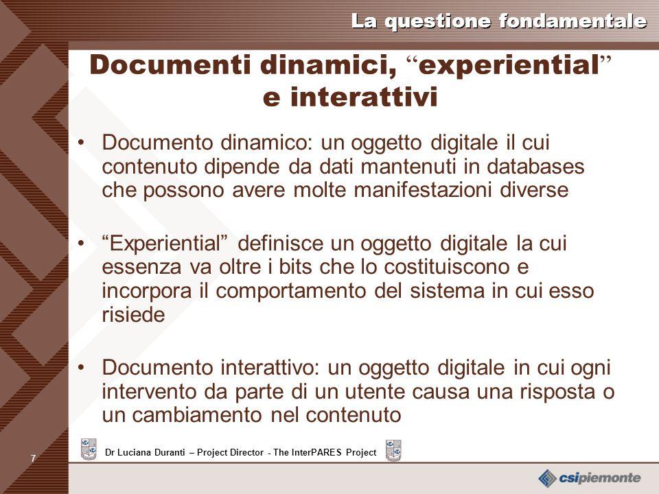 Documenti dinamici, experiential e interattivi